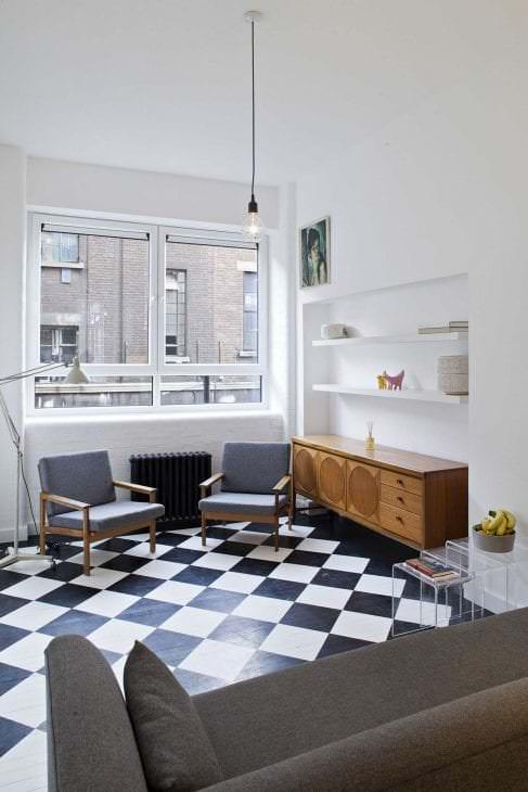 красивый интерьер квартиры в стиле лофт