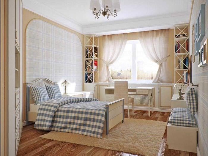 яркий интерьер гостиной в стиле прованс