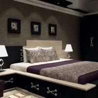 светлый интерьер гостиной в цвете венге фото