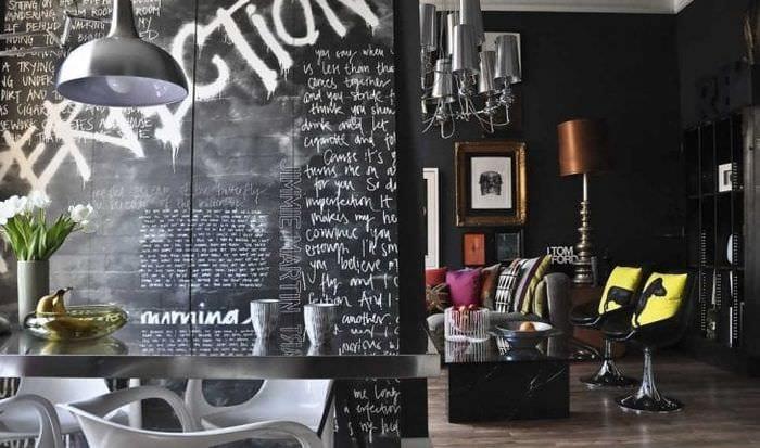 светлый дизайн квартиры в стиле фьюжн