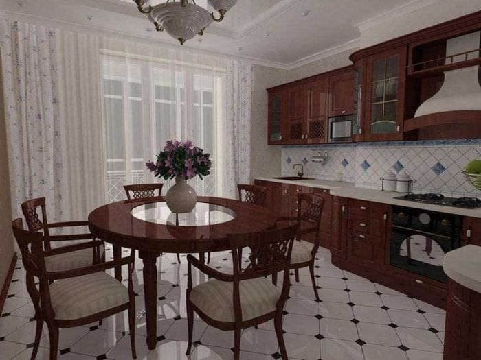 светлый интерьер элитной кухни в стиле модерн