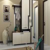 светлый дизайн коридора в цвете венге фото