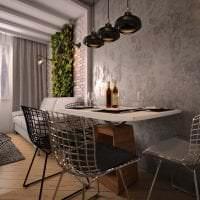 светлый интерьер квартиры в стиле лофт фото