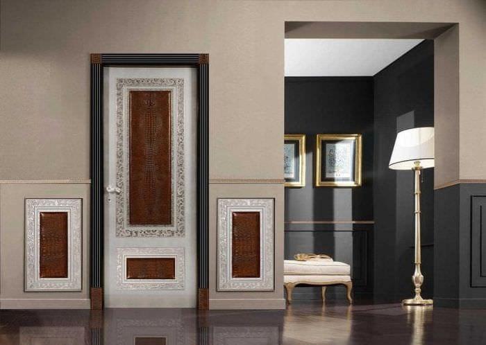 межкомнатные двери в интерьере кухни