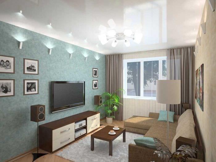 идея красивого декора гостиной комнаты своими руками