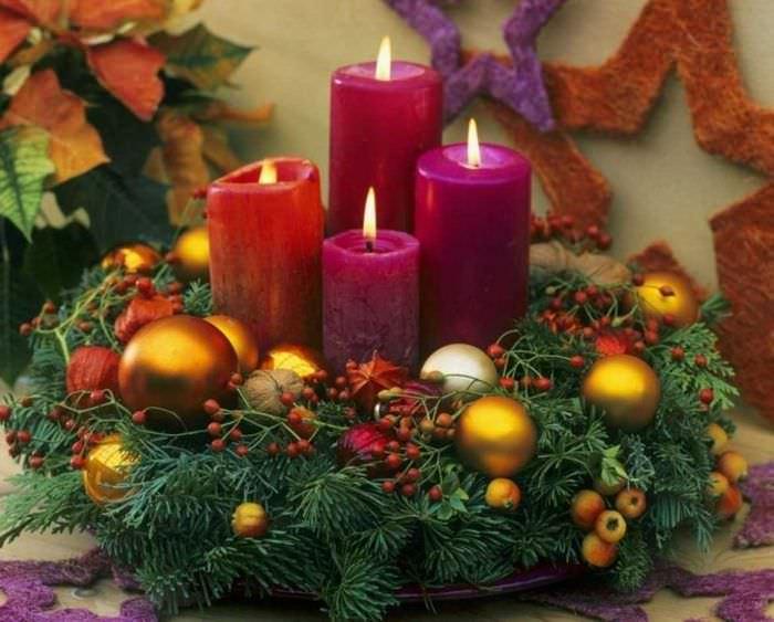 вариант шикарного декора свечей своими руками