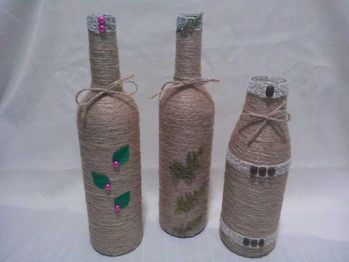 Декор стеклянных бутылок фото дагестане просто