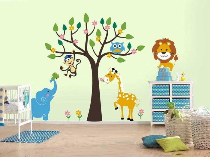 идея светлого декорирования детской