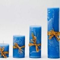 идея шикарного украшения свечей своими руками фото