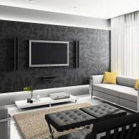 идея светлого декора гостиной комнаты своими руками фото