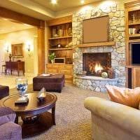 вариант яркого декорирования гостиной своими руками картинка