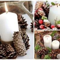вариант оригинального декорирования свечек своими руками картинка