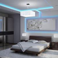 идея цветной подсветки интерьера фото