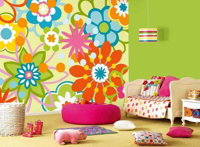 вариант красивого украшения детской комнаты