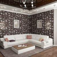 вариант светлого декора гостиной комнаты своими руками картинка