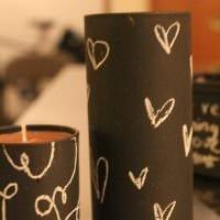вариант светлого украшения свечей своими руками фото