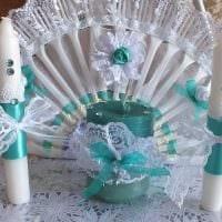 идея яркого декора свечек своими руками фото