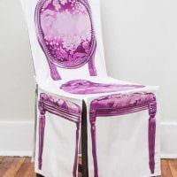 идея яркого декора стульев своими руками картинка