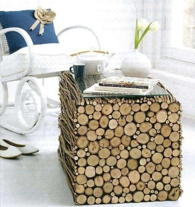вариант шикарного украшения помещения деревом своими руками