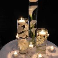 вариант оригинального декора свечей своими руками картинка