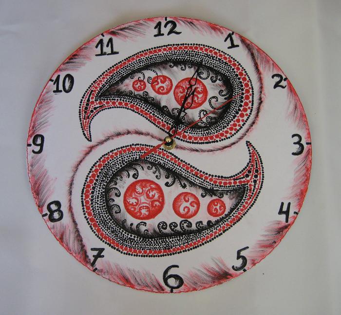 вариант красивого декорирования часов своими руками