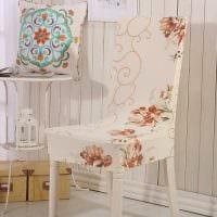 идея оригинального декорирования стульев картинка