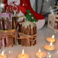 идея красивого декора свечек своими руками фото