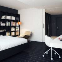 необычный темный пол в стиле квартиры картинка