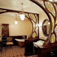 мозаичный витраж в декоре квартиры фото