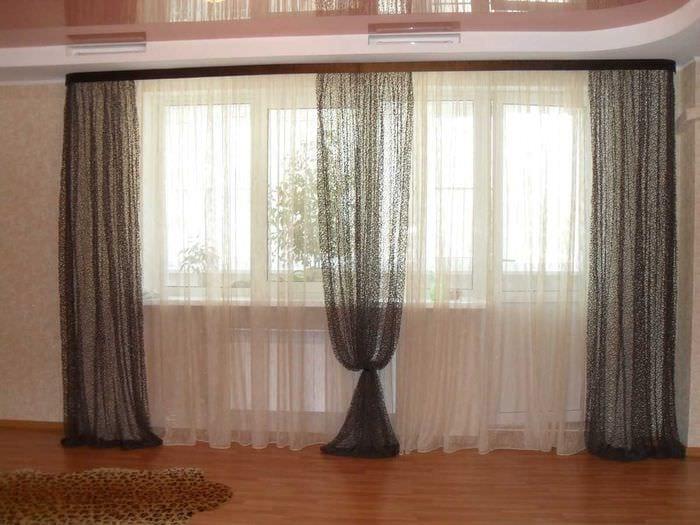 классическое декорирование окон шторами