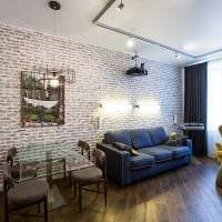 комбинирование ярких обоев в декоре гостиной фото