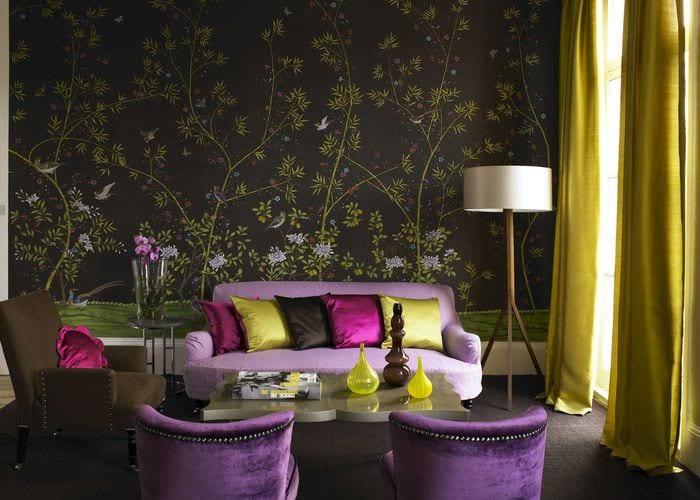 сочетание цветов обои на стены фото вход оду позволяет