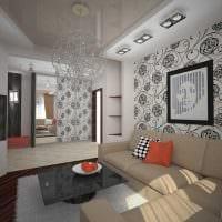 сочетание светлых обоев в дизайне гостиной комнаты фото
