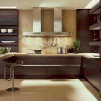 сочетание светлых цветов в декоре кухни фото