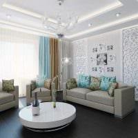 комбинирование светлых цветов в интерьере квартире картинка