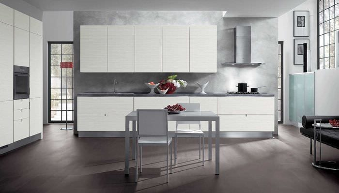 сочетание темных тонов в дизайне кухни
