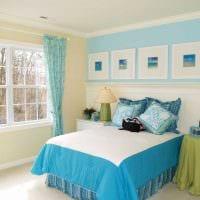 комбинирование светлых цветов в интерьере спальни фото