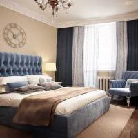сочетание ярких тонов в декоре спальни картинка