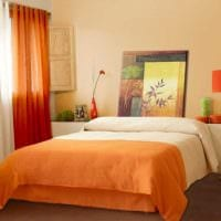комбинирование темных цветов в дизайне спальни картинка