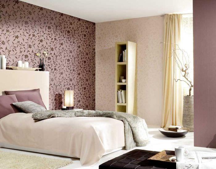 сочетание светлых тонов в стиле спальни
