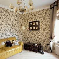 сочетание ярких штор в дизайне спальни картинка
