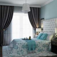 комбинирование ярких тонов в интерьере спальни фото
