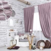 комбинирование светлых штор в декоре комнате картинка