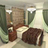 сочетание ярких штор в стиле гостиной фото