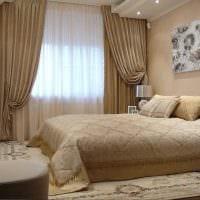 сочетание темных штор в дизайне гостиной картинка