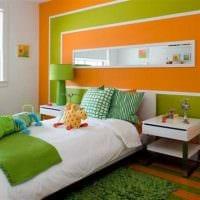 комбинирование светлых оттенков в декоре спальни фото