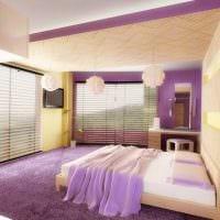 комбинирование ярких цветов в фасаде спальни картинка