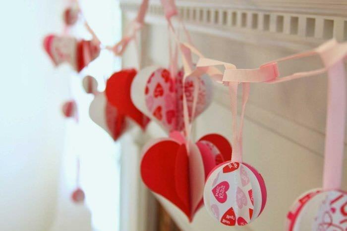 красивое декорирование комнаты подручными материалами на день святого валентина