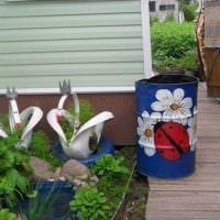оригинальное оформление сада подручными материалами фото