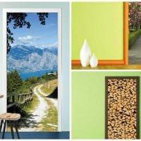 красивое украшение входных дверей подручными материалами картинка